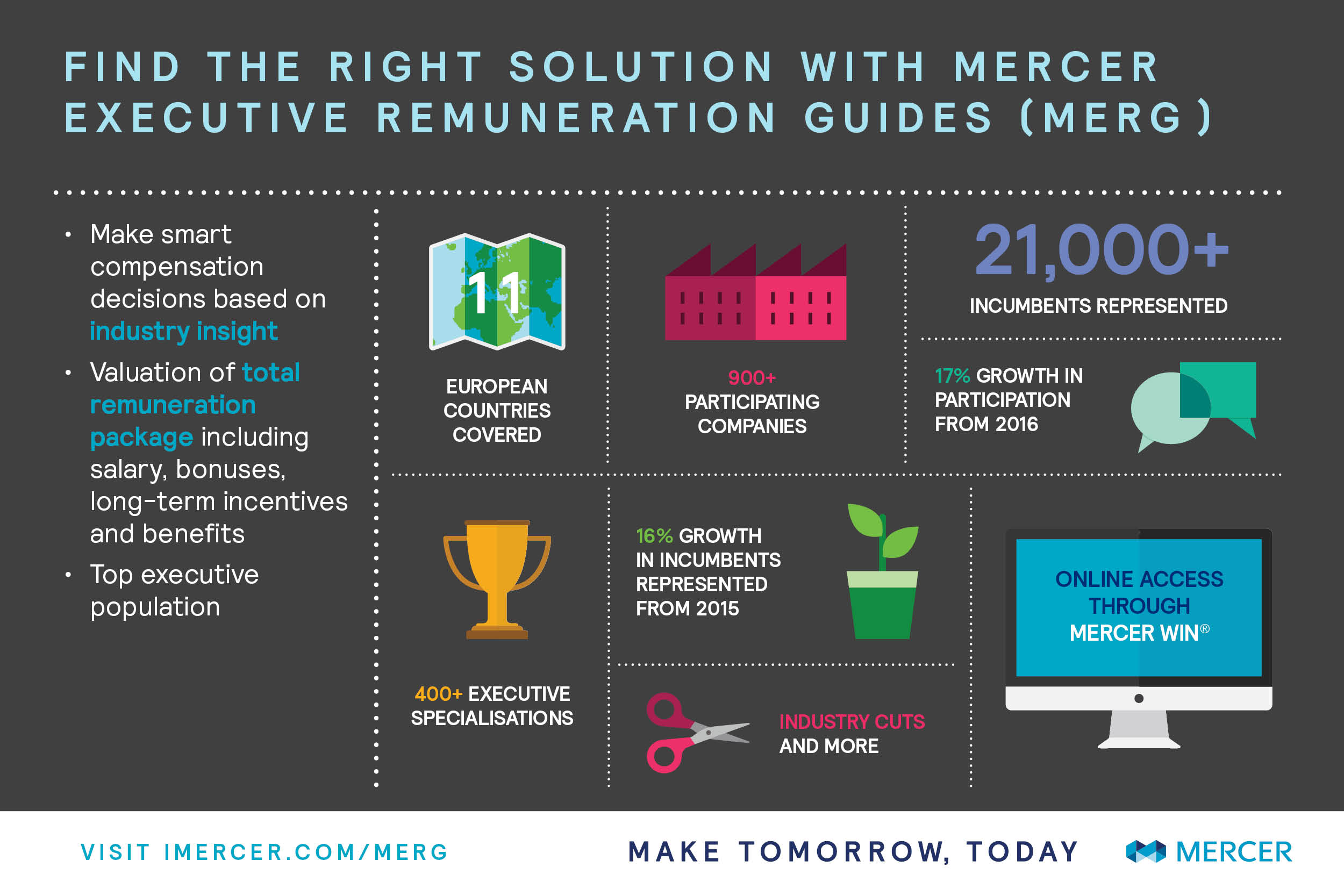 Mercer Executive Salaries and Remuneration Guides infographic