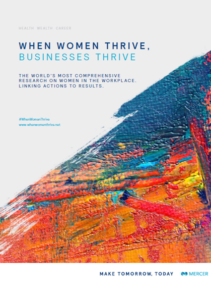 When Women Thrive, Businesses Thrive report cover image