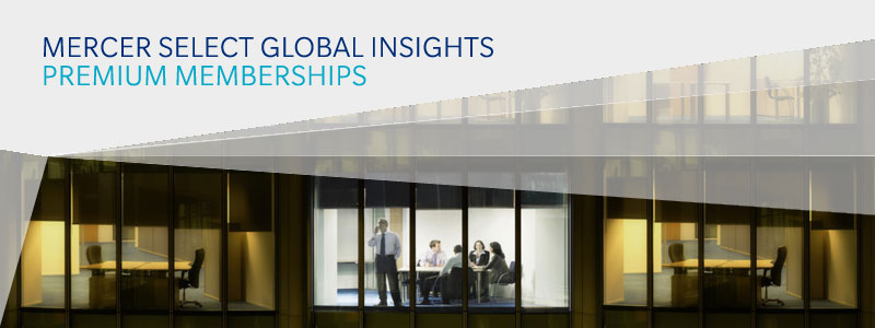 Mercer Select Global Insights Premium Membership banner image