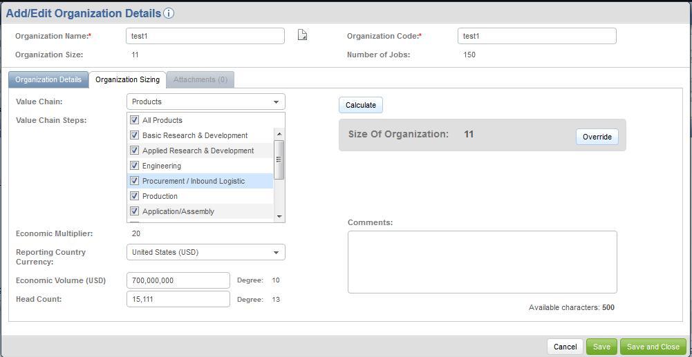Mercer WIN / Advanced eIPE my organizations screen 2